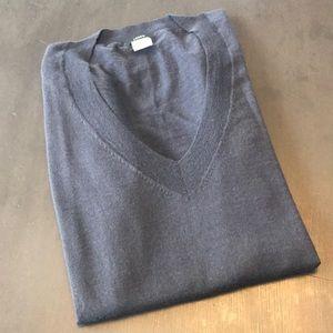 J. Crew v-neck sweater. Medium, navy.